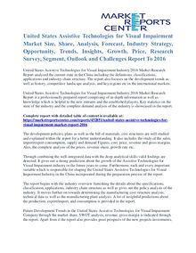 Assistive Technologies for Visual Impairment Market 2016