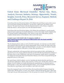 Bio-based Emulsifier Market Cost and Revenue Report To 2016