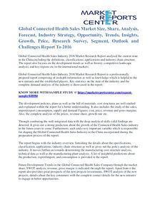 Connected Health Sales Market Analysis, Size, Share and Forecast 2016