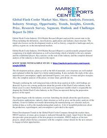 Flash Cooler Market Price Trends And Segment Forecasts To 2016