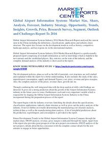 Airport Information Systems Market Price and Gross Analysis 2016