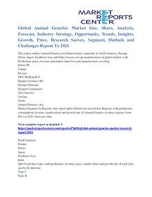 Animal Genetics Market Major Players Analysis and Forecast to 2021