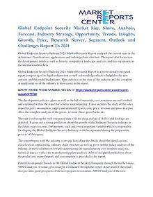 Endpoint Security Market Trends, Industry Analysis and Forecast 2021