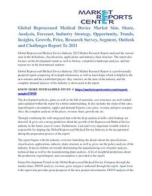Reprocessed Medical Device Market Analysis And Segment To 2021