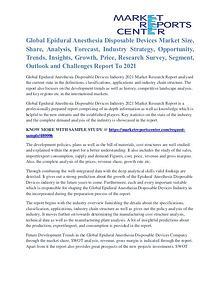 Epidural Anesthesia Disposable Devices Market Trends Analysis To 2021