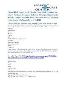 High Speed Steel Circular Saw Blade Market Segmentation & Growth 2021