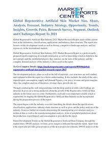 Regenerative Artificial Skin Market Strategies Analysis To 2021