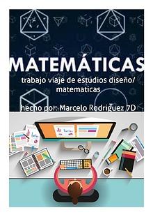 trabajo, viaje de estudios matematicas/diseño