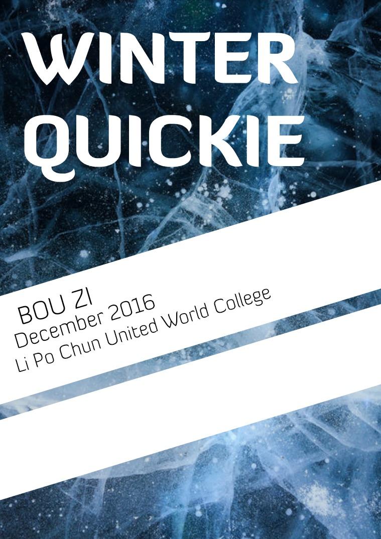 Bou Zi 2016-2017 Winter Quickie