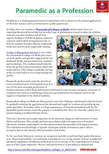 Paramedical Courses in Delhi-CMI