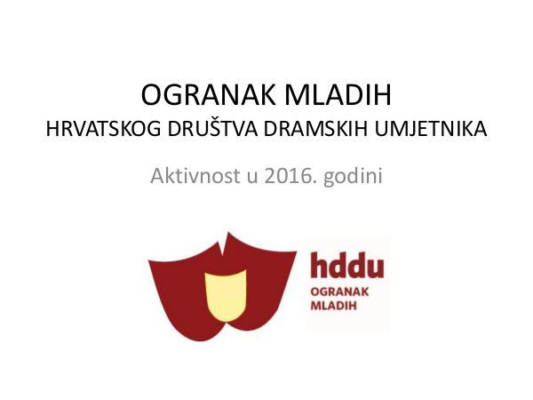 Ogranak mladih HDDU-a u 2016. godini