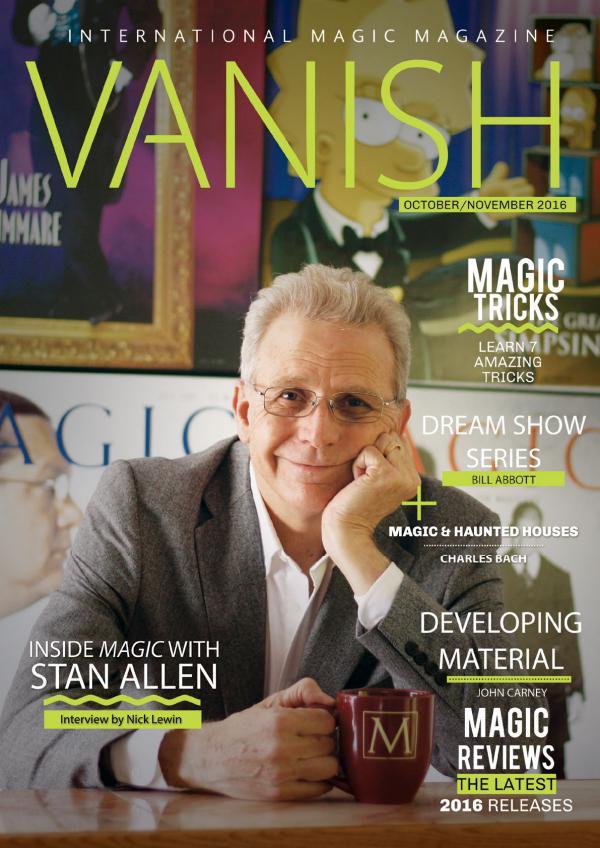 VANISH MAGIC BACK ISSUES Stan Allen Feature - 28