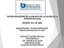 Decreto 1011 de 2016