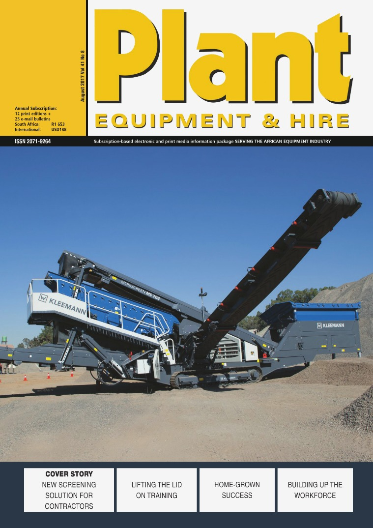 Plant Equipment and Hire August 2017