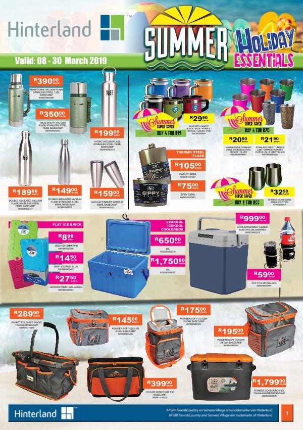 Hinterland Promotions Hinterland Summer Holiday Essentials