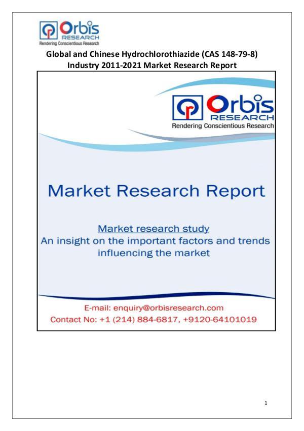 Industry Analysis Hydrochlorothiazide (CAS 148-79-8) Market