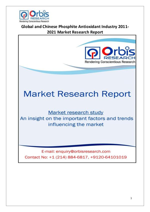 Industry Analysis 2021 Global & Chinese Phosphite Antioxidant Market