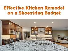 Effective Kitchen Remodel on a Shoestring Budget