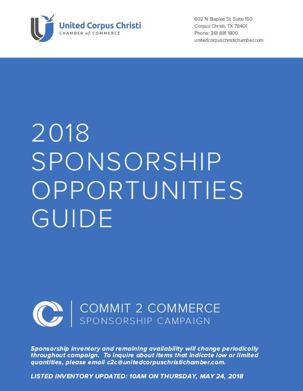 C2C 2018 Sponsorship Opportunities Guide