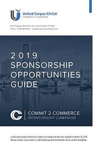 2019 Sponsorship Opportunities Guide