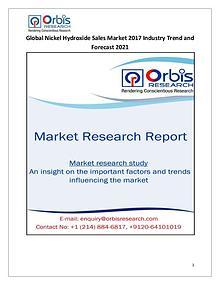 Global Nickel Hydroxide Sales Market 2017-2021 Forecast Research Stud