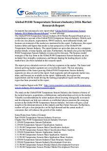 Global Pt100 Temperature Sensors Industry 2016 Market Research Report
