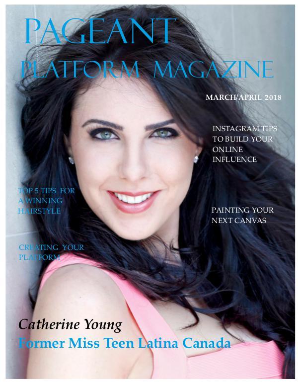 Pageant Platform Magazine March/April 2018 pageant platform magazine march april 2018 final