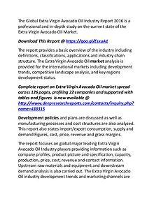 Extra Virgin Avocado Oil Industry Global Market