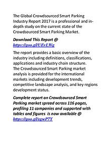 Crowdsourced Smart Parking Industry: Global Market Forecast 2022