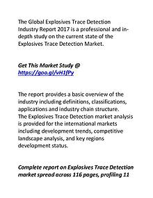 Explosives Trace Detection Industry: Market Report 2017