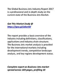 Business Jets Industry Competitive Landscape Analysis 2022