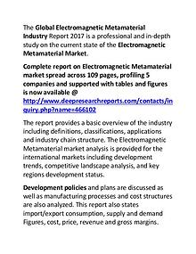 Electromagnetic Metamaterial Market 2017-2022 Demand and Insights