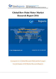 Global Dew Point Meter Market Research Report 2016