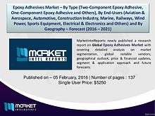 Revenue Analysis – Global Epoxy Adhesives Market Till 2021