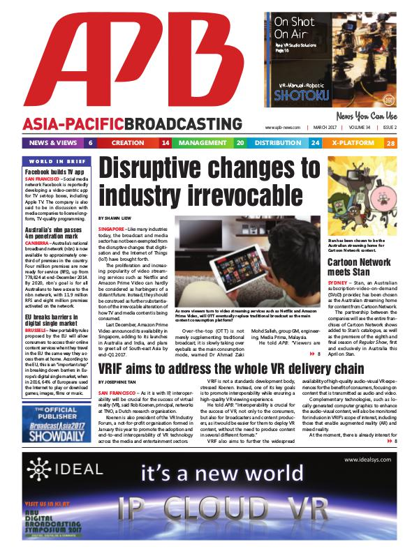 Asia-Pacific Broadcasting (APB) March 2017 Volume 34, Issue 2