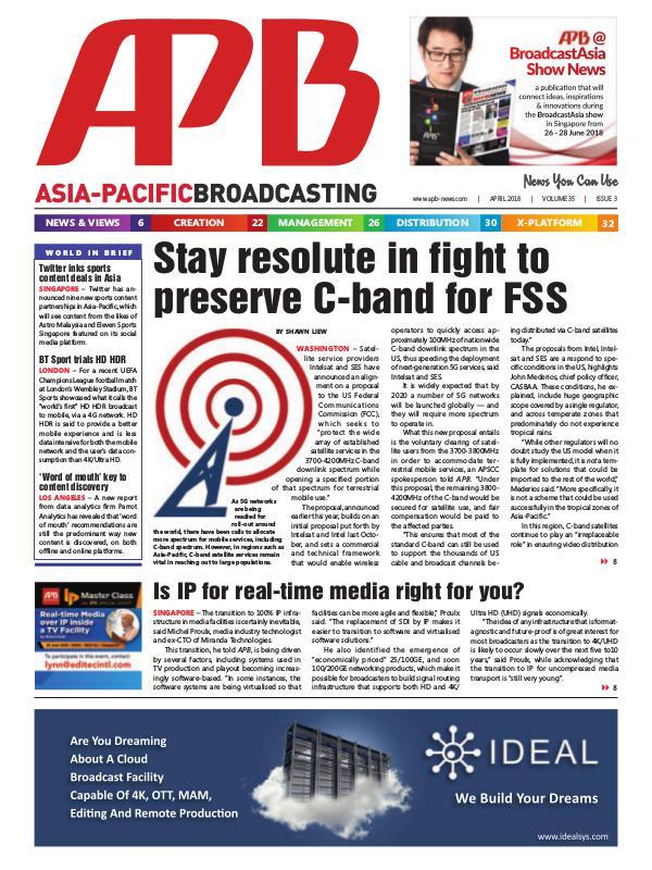 Asia-Pacific Broadcasting (APB) April 2018 Volume 35, Issue 3