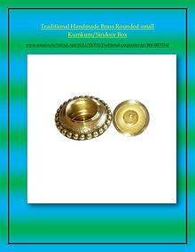 Craftera Multicolour Brass Karwa Chauth Pooja Thali Set