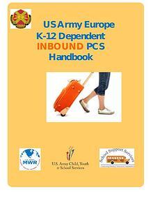 US Army Europe K-12 INBOUND PCS Handbook