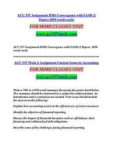 ACC 537 STUDY Extraordinary Life/acc537study.com