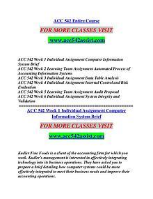ACC 542 ASSIST Extraordinary Life/acc542assist.com