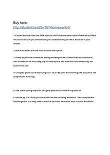BI 101 Homework 5