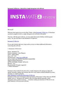 Instamate 2.0 Review, Product Tour & Bonus - Is It Worth Your Money?
