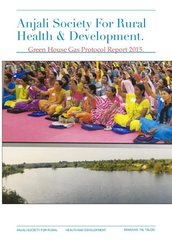 Sustainability Report Anjali Hospitals 2015.