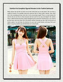 Comfort For Complete Figured Women in the Tankini Swimsuits
