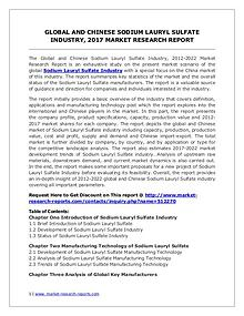 Sodium Lauryl Sulfate Market 2012-2022 Analysis, Trends and Forecasts