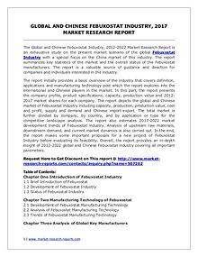 Febuxostat Market 2012-2022 Global Key Manufacturers Analysis Review