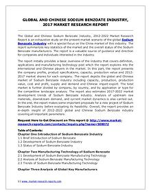 Global Sodium Benzoate Industry Analyzed in New Market Report