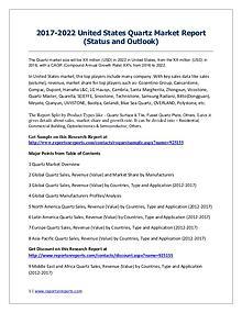 Quartz Market 2012-2022 Global Key Manufacturers Analysis Report