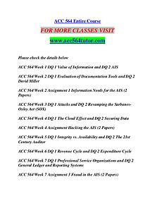 ACC 564 TUTOR Anywhere Start Here/acc564tutor.com