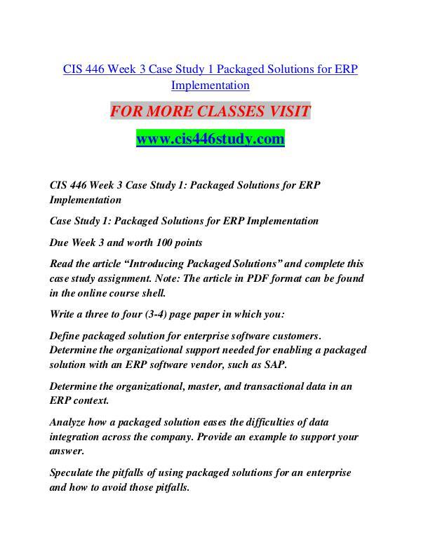 CIS 446 STUDY Extraordinary Life/cis446study.com CIS 446 STUDY Extraordinary Life/cis446study.com